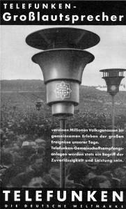 Telefunken-Pilzlautsprecher 1934