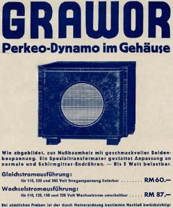 Perkeo-Dynamo Lautsprecher 1932