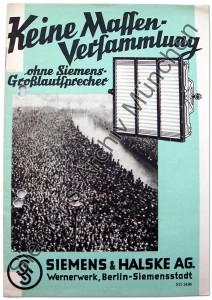 Siemens-Werbeprospekt 1930