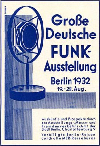 Werbung Funkausstellung 1932