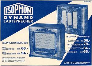 Isophon-Werbung