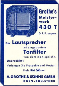 Grothe Lautsprecher-Werbung